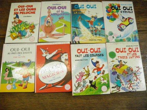 Lot de 8 livres de Enid Blyton Oui-Oui s'envole - Décroche la lune - fait des courses - et les trois lutins - au pays des jouets - et le magicien - et les ours en peluche - et le Kangourou