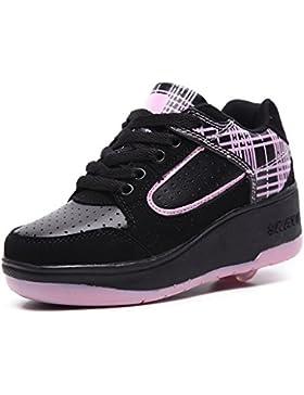 [Patrocinado]Zapato niña cordones cuña 53960 xti color negro (31)
