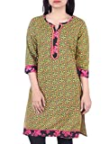 Bleuindus Multi Color Printed Hand Block Print Kurti