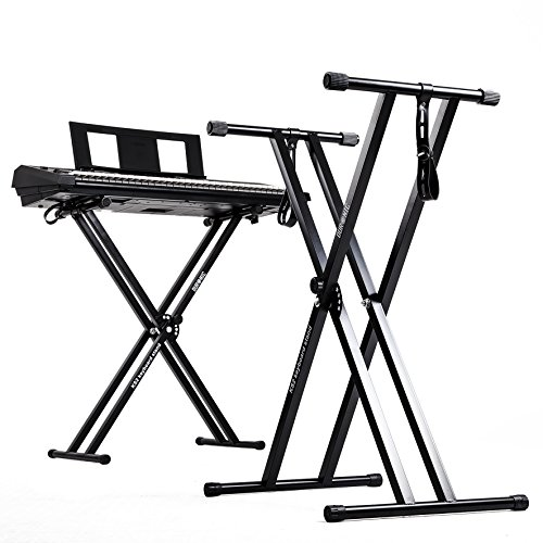 duronic-ks2b-height-adjustable-twin-x-frame-keyboard-stand-with-quick-pull-release-mechanism-black