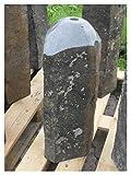 Der Naturstein Garten Basalt Quellstein H=60cm - Brunnen Säule Springbrunnen Trog Becken Granitbrunnen Monolith