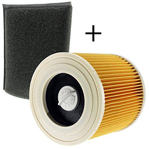spares2go Schaumstoff + Kartusche Filter für Kärcher Staubsauger