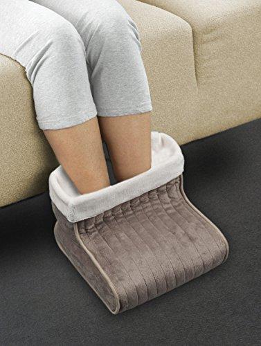 Medisana FWS Fußwärmer (geeignet bis Schuhgröße 46), 3 Temperaturstufen, Innenfutter maschinenwaschbar, Oeko-Tex Standard 100 - 2