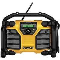 DeWalt DCR016-QW - Radio para obras (altavoces, entrada AUX, Li-Ion) color amarillo