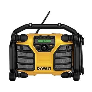 51FtQ5BXfxL. SS300  - Dewalt DCR016-QW Radio para Obras DCR016, batería/Cable, sin función de Carga, XR Li-Ion, Negro, Amarillo