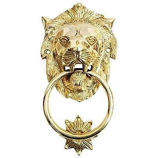 aubaho Door knocker lion iron antique style 22cm