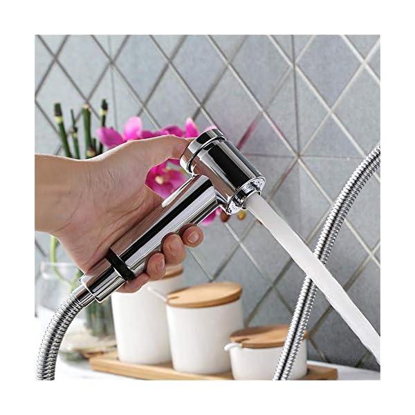 HOMELODY Grifo de cocina extraíble 2 Funciones 360° Giratorio Grifo Monomando de Fregadero Grifería cocina Agua Fría y Caliente Cromado