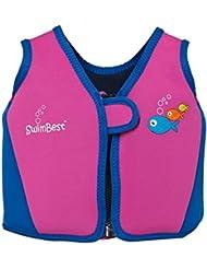 Chaleco/chaqueta de natación Swimbest - Rosa/azul marino - 3-4 años aprox (hasta 30 kg aprox)