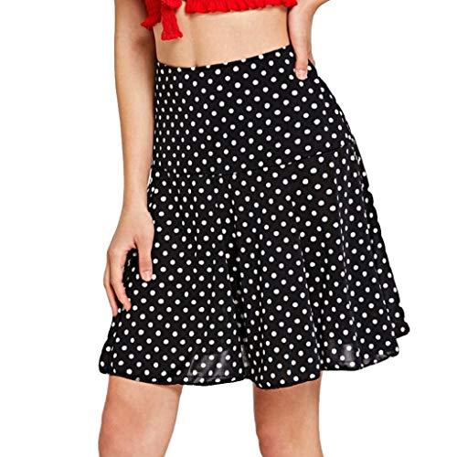 Sasstaids Sommer heißerKurzer Rock,Frauen-hohe Taille n-Wellen-Mode-Mädchen-reizvolle einheitliche gefaltete Minirock