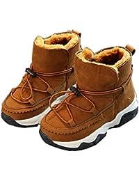 Vovotrade bebé chicas Botas de nieve zapatos calientes (Tamaño: 24, Rojo caliente)