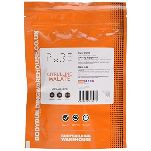 51FtRmX9qCL. SS500  - Bodybuilding Warehouse Pure Citrulline Malate Powder Unflavoured