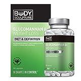 Glucomannan Sättigungskapseln Konjac Mannan Wurzel hochdosiert - 180 Kapseln Vitamine Mineralstoffe...