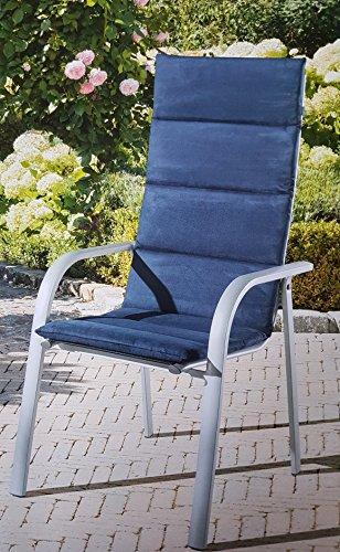 Hochlehner-Auflage blau Sitzkissen Sitzauflage Hochlehnerauflage GARDENLINE