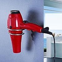 HSBAIS Soportes para secador de Pelo Estantes de Acero Inoxidable para baño con Base de Acero