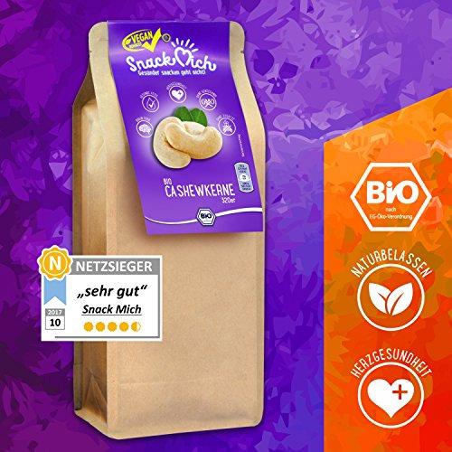 Preisvergleich Produktbild Gesunde Edel Bio Cashewkerne / Cashewnüsse / Cashew Nüsse 1kg (Nusskerne) ohne Bruch aus Indien in Rohkost-Qualität,  naturbelassen,  unbehandelt,  ungesalzen,  ungeröstet
