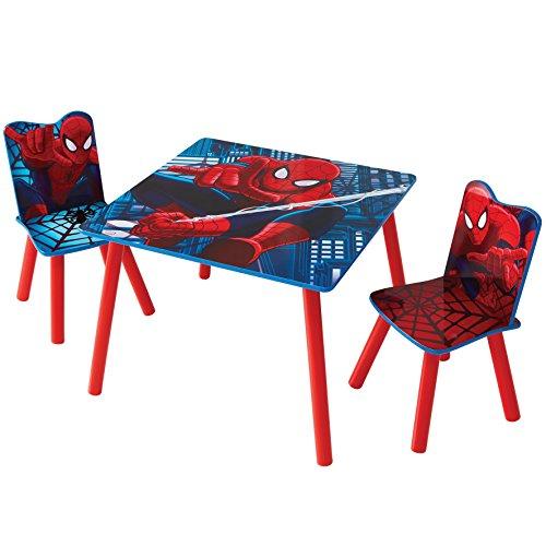 Familie24 3tlg. Holz Kindersitzgruppe Auswahl Sitzgruppe Frozen Cars Minnie Maus Mickey Maus Winnie Pooh Tisch + 2X Stuhl (Spiderman)