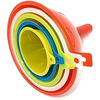 Entonnoir TIJAR - Lot de 5 fenouils en plastique de couleur - Facile à ranger - 5 tailles différentes - Support de…