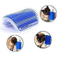 Beito Cepillo de esquina para mascotas, gatos, perros, autoaseo, esquina, masaje, peine para gatos, gatos y perros con cepillo de esquina