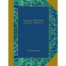 Läsning I Blandade Ämnen, Volume 1