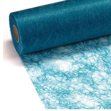 100 Deko Diamanten + 25 m x 30 cm Sizoflor® Vlies Original türkis Tischband Tischläufer blau Taufe Geburtstage