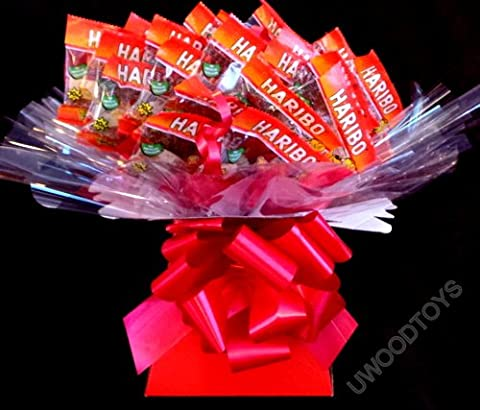 Sweety candy trees ~ Haribo Tangfastic Sweet Bouquet ~ Personalised ~ Delivered in Patterned Gift