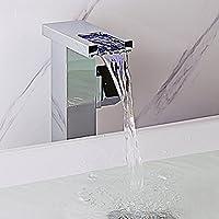 jiayoujia LED rubinetto miscelatore monoblocco per piano, cromo