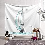 FWHA Tapisserie Wandteppiche Segelplane Seetapisserie Dekorative Tuch Strand Halstuch Kissen Tischdecke Sofa Abdeckung Tuch