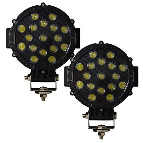 Auxtings 7 Pulgadas 2 pcs 51W barra luz LED Spot Off-Road
