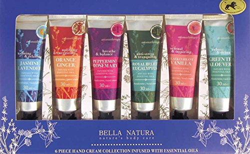 Bella Natura No. 103, ätherische Öle, Handcreme Geschenkset (6-teilig)