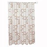 Wasserdicht quadratisch Muster Badezimmer Duschvorhang, PEVA, Stoff, 80x 180cm, 120x180cm