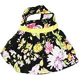 Douge Couture Floral Dog Skirt, Black (30cm)