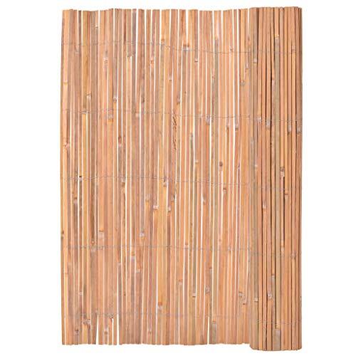 Daonanba Clôture de jardin Bordure privée de patio Bambou durable 2 x 4 m