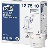 TORK Papier Toilette Mid Size T6, 70 m X 9,9 cm 27 Rouleaux de 70 Mètres