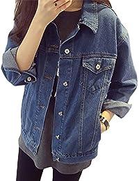 Mujer Oversized Denim Chaquetas Corto Jacket De Mezclilla Abrigo