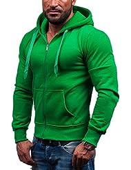 STEGOL Herren Kapuzenpullover Sweatshirt Sweatjacke Hoodie Pullover AK50