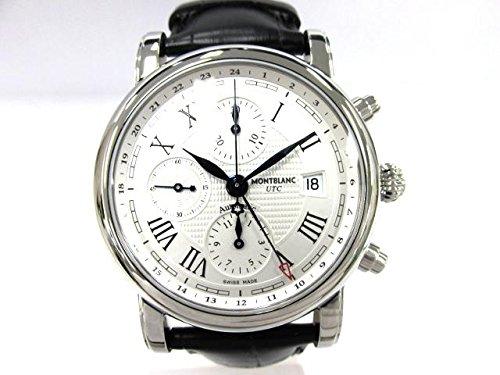 Montblanc Star Chronograph UTC Automatic/Uhr/Herren Zifferblatt Silber/Stahl-Gehäuse/Armband Alligator Schwarz