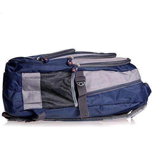 Leefrei Schulrucksack Schulranzen Schultasche Sports Rucksack Freizeitrucksack Daypacks Backpack für Mädchen Jungen & Kinder Damen Herren Jugendliche mit der Großen Kapazität (Vintag-Blau2) - 6