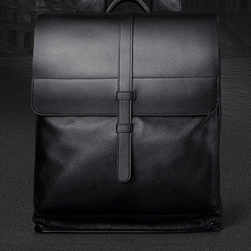 Leder Rucksack Männer Schultertasche Computer Große Kapazität Business-Reisetasche Tasche - Mann Tasche Für Shouder
