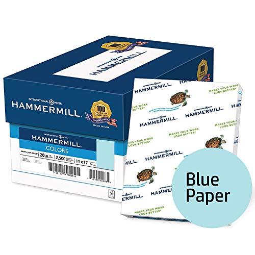 k) Papier, Farben blau, 9,1kg, 11x 17, Ledger, 2500Blatt/5Ries Fall (102137C), hergestellt in den USA blau ()