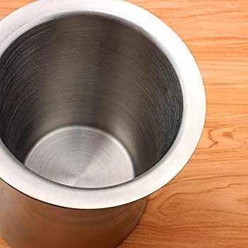 Chsukho Stainless Steel Ice Bucket Oblique Horn Ice Bucket Wine Ice Bucket Double-wall Champagne Ice Bucket 3