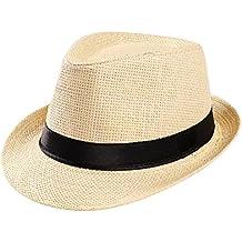 af15ef975ae0 moonuy Paille À l extérieur Chapeau Unisexe Beach Sun Chapeau Paille Rétro  Chapeau de Soleil