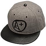 THENICE Uomo Hip Hop lettera A+ Cappello Baseball Cap piatto a tesa (nero) 47c95aaeec62