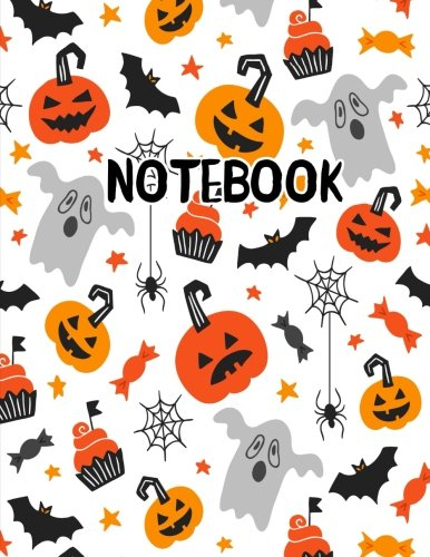Notebook: Scary Halloween Ghost Pumpkin Cupcake Journal 8.5 x 11 (Fun Halloween Journals, Band 2)