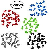 UKCOCO Casquillos del clavo de pata Control de garra de gato Uñas perro protección Colores Surtidos Talla XS 120 piezas