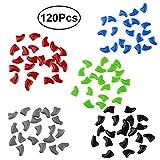 Ueetek - Cappucci copri unghie per gatti, colori assortiti,  120 pezzi
