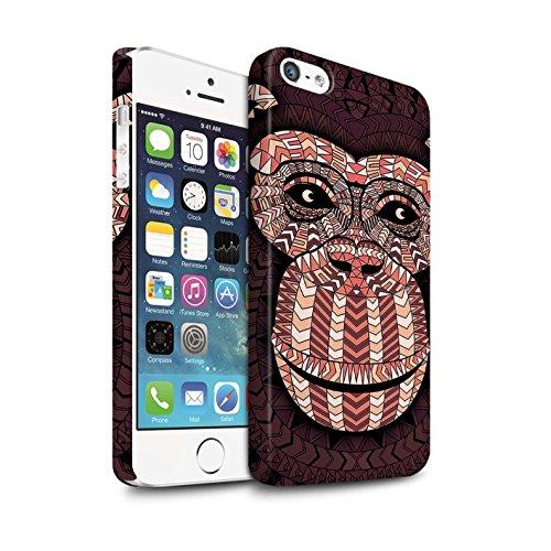 Clipser Matte Coque de Stuff4 / Coque pour Apple iPhone 7 Plus / Loup-Pourpre Design / Motif Animaux Aztec Collection Singe-Rouge