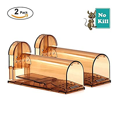 GPISEN Humane Mouse Trap No Kill Live Mice Catch Cage (2 Pack)