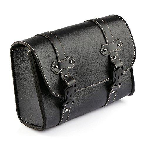 Motorradtasche Motorrad Satteltasche Gepäcktaschen Werkzeugtasche Hecktasche Leder Schwarz Für Harley Davidson