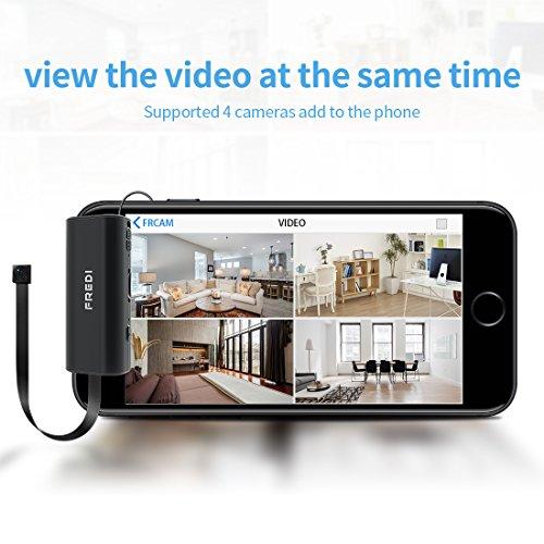 FREDI Microcamera spia HD 720P con rete Wireless micro ip camera Wi-Fi Telecamera nascosta cam modulare P2P fai da te senza fili con sensore di movimento - Videocamera DV Digital Video Recorder - 3