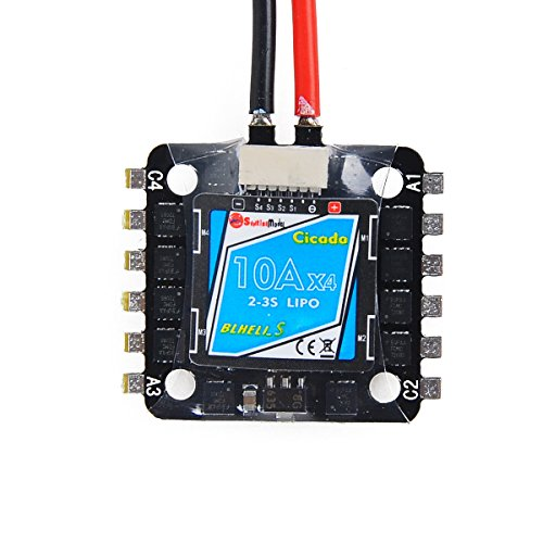 Sunrise BLHeli-S 4-in-1 ESC 10A 20x20mm Mounting Hole Electronic Speed Controller 2-3S for FPV Racing Drone by Crazepony-UK